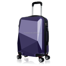 2017 hot selling ABS PC hardshell trolley luggage sets with retractable wheels