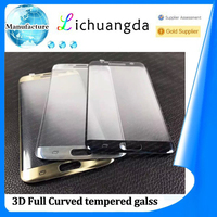 factory price 3D full curved tempered glass screen protector for samsung S7 edge