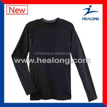 breathable mens LS 100% polyester sport T-shirt