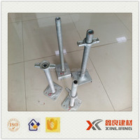 Screw base jack for scaffolding