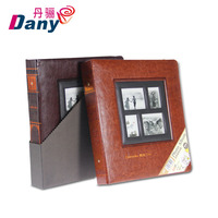 Customized wholesale waterproof PU leather bound 4R 4x6 600 photo albums