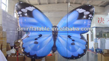 2013 new shape led lighting blue inflatable butterfly for decorating