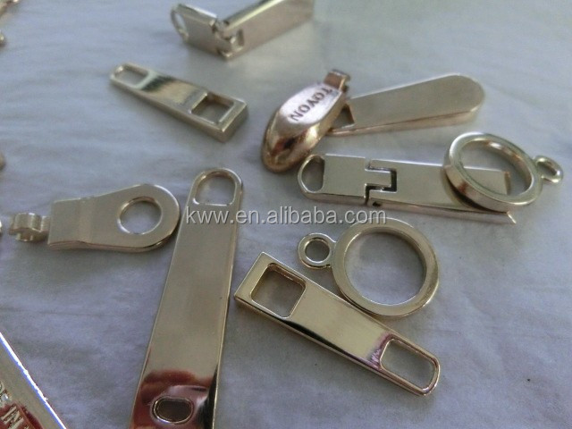 high shiny high polished sliders& puller for zipper