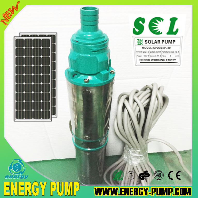 High Quality 24v 400w Dc Solar Submersible Pump Brushless
