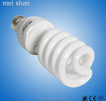 Warm white pure white glass fluorescent spiral 26w 6400k energy saving lamp