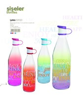 Colored Glass Water Bottle