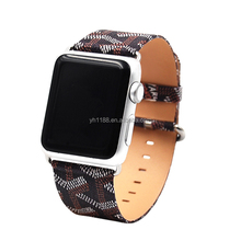 Crossed pattern genuine leather watch bands with priting for Apple Watch iwatch 1 / series 2