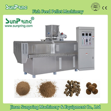 Twin Screw Extruder For Sinking Fish Feed, Hot Sale Small Capacity Fish Feed Machine