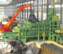 steel scrap recycling / metal scrap / shredder wrapping machine