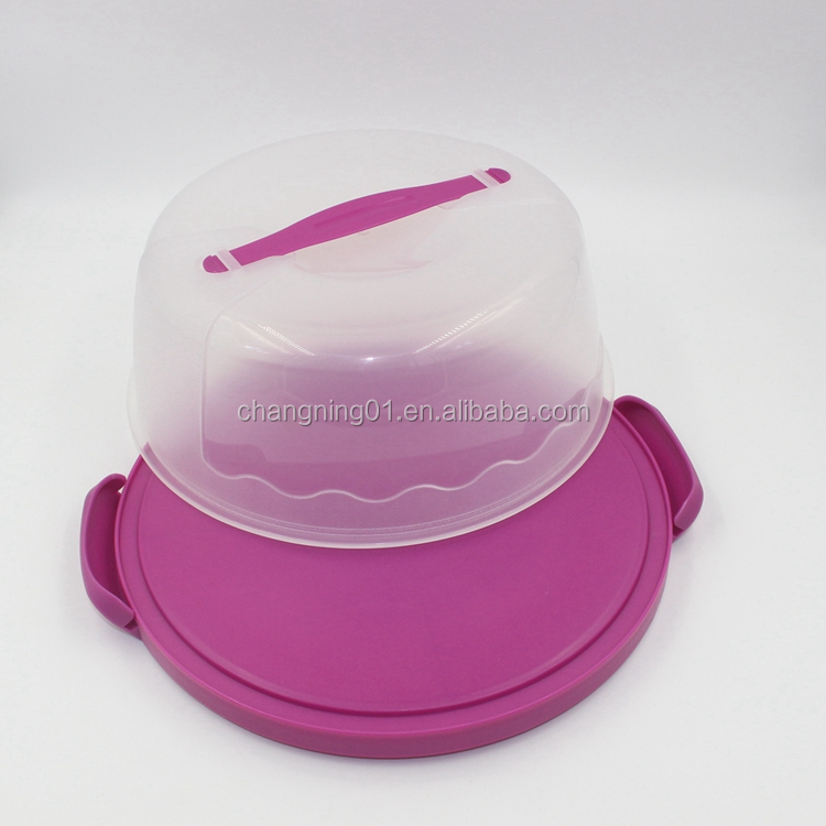 PP Round Cake Box, Plastic Cake Carrier Container