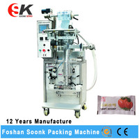 Small Scale Drink Bag Juice Tomato Paste Filling And Sealing Packing Machine