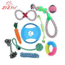 10 Pack Pet Toys Gift Set Best Durable Chew Teething dog rope toy