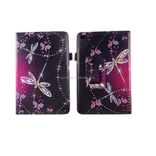 7.9'' Diamond Dragonflies HD Print Custom Design PU Leather Tablet Cover for iPad Mini 4 (1/2/3)