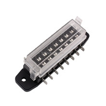 8 Way DC32V Circuit Car Boat Automotive Auto ATC ATO Blade Fuse Box Block Holder