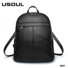 Fashion Design Women Solid Color High-grade PU Leather Backpack