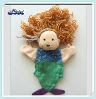 Baby doll Cartoon character mermaid Children full body puppets for sale
