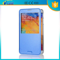 VCASE Alibaba China Leather Flip Case Mobile Phone Back Cover For Samsung Galaxy note2