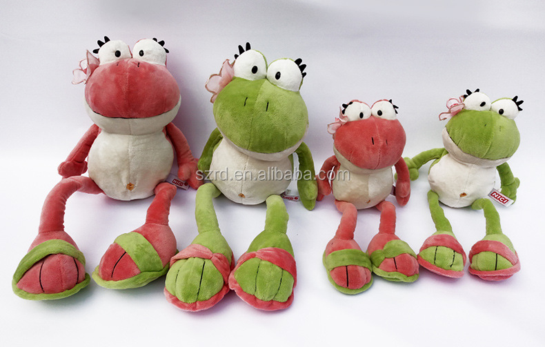 Custom china plush toy wholesale popular frog animal stuffed soft toy
