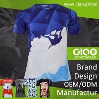 Custom sublimation t-shirt with digital print