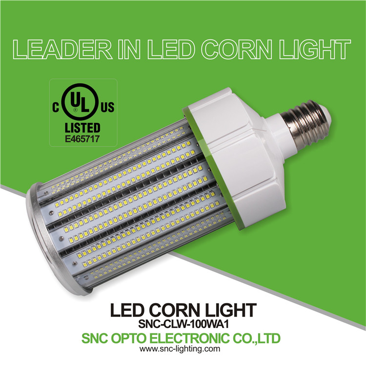 E39 led corn light, 300w replacement 100w led corn bulb/led corn cob light with UL&cUL approved