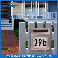 Landsign Longlife time Address Number solar led outdoor wall light