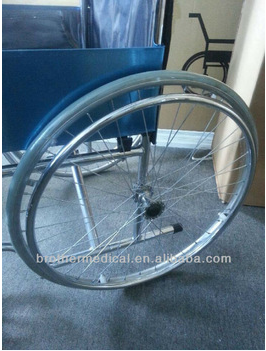 "wheelchair 24"" spoke wheels with steel hand rim from factory with low price"