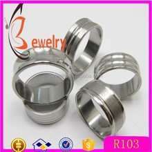 Hot Silver Frosted Stainless Steel rings Fashion Mix Style Women Mens Rings Wholesale Jewelry rings