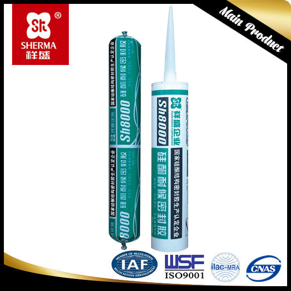 China supplier Acetic Silicone Sealant clear color 300ml