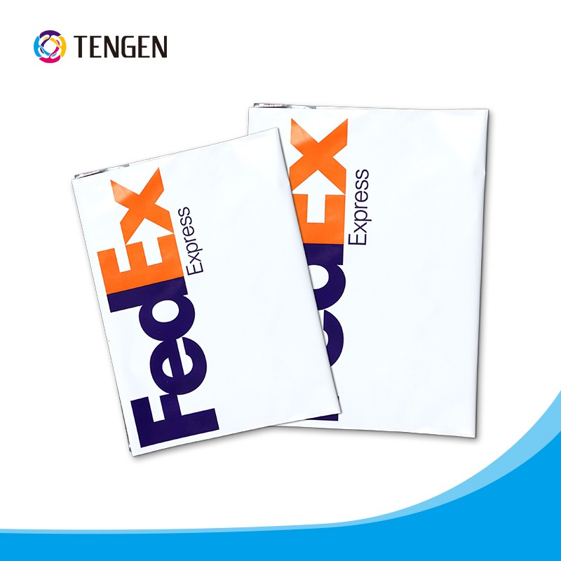 Co-extruded plastic mailing bags