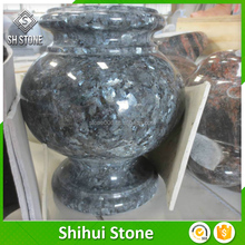 China supply green jade stone vase for cerametion