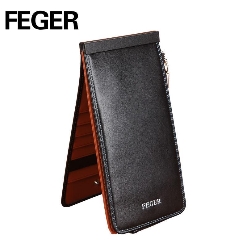 Bulk Wholesale Portable Genuine Leather Pocket Business