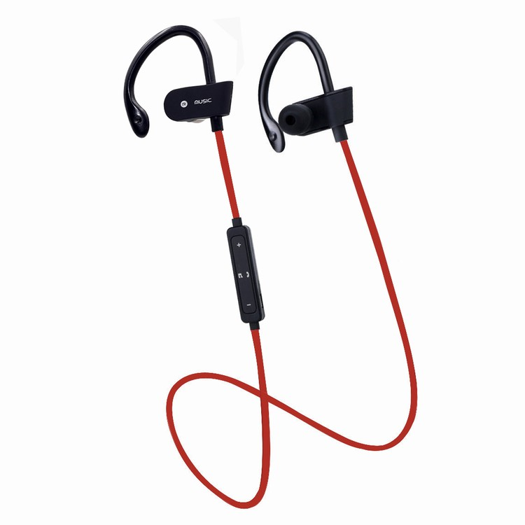 Noise Cancelling Sport Headset with Mic and Secure Ear Hooks
