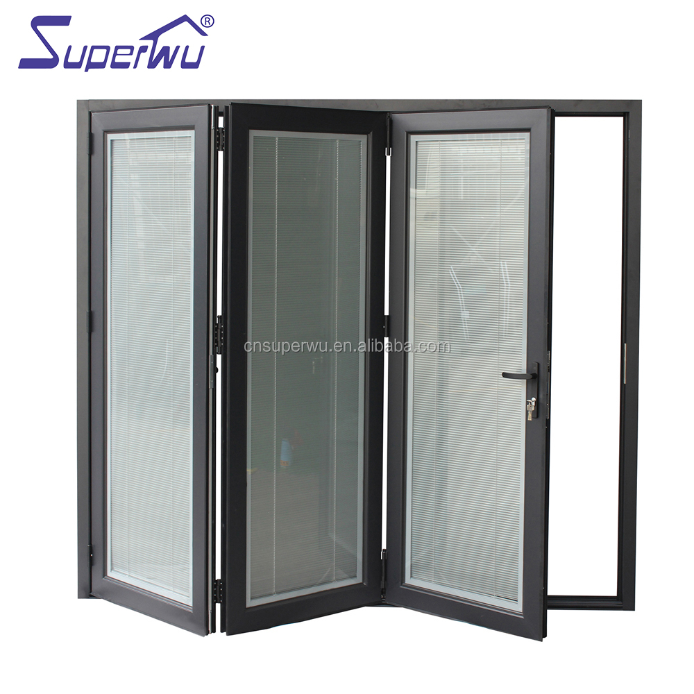 Super quality aluminum frame bi-folding <strong>door</strong> with german brand hardware