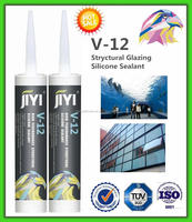 V-12 One component acetic transparent silicone sealant for application aquarium
