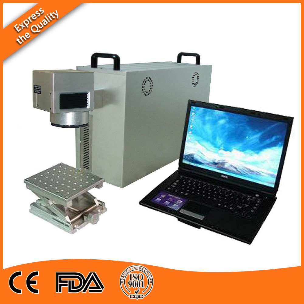 China popular air cooling fiber laser marking 20w