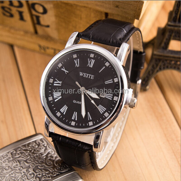High quality leather wrist men business watches