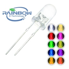 LED 5MM Diodes 5mm 5 Color White Yellow Red Blue Green Round Emitting Diode F5 Ultra Bright LED Lamp light