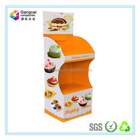 durable two-tiers orange delicate paper display stand for bread cake