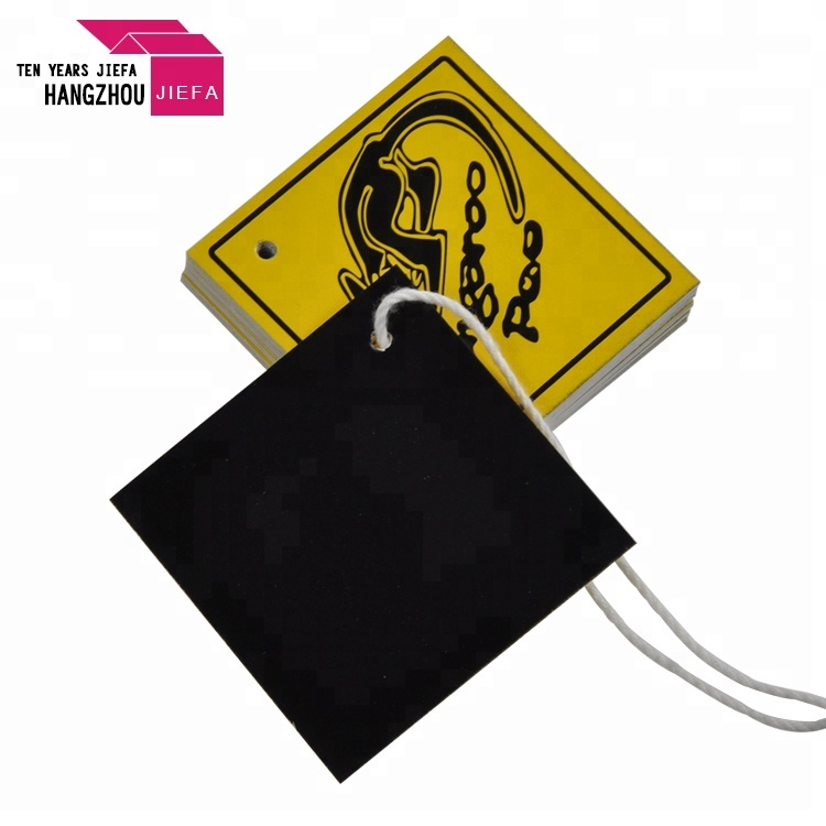 Custom Clothing Hang Tag Logo T-thirt Paper Hang Tag