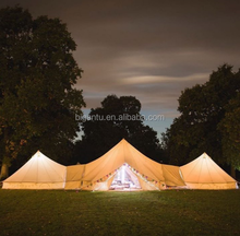Mountain shape combination canvas bell tent