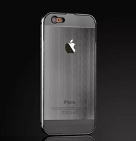For iphone 6s Metal Bumper Brushed Back Mobile Phone Case