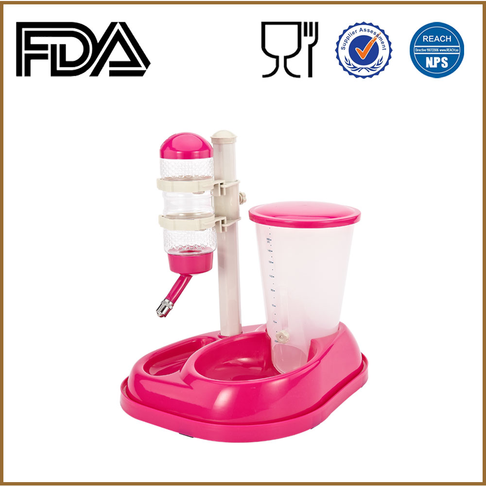 Plastic Water Fountain Cat drinker feeder Automatic pet feeder