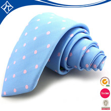 Custom 1200 Needles Woven 100% silk polka dot tie