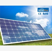 High quality 1.5 watt solar panel on house roof for home use