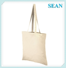 Handled Style And Cotton Material Cotton Sling Canvas Tote Bag