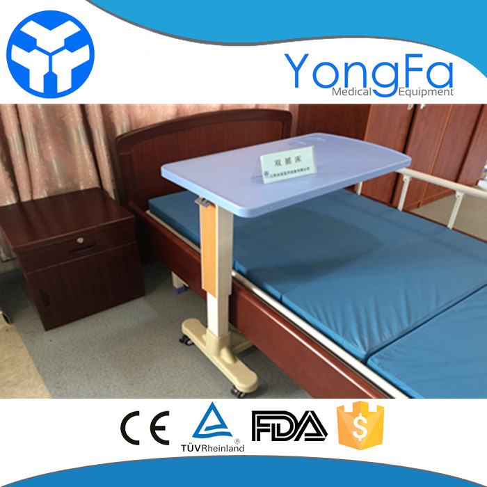 YFT-001 Hospital Furniture Over Bed Table for Patient dining