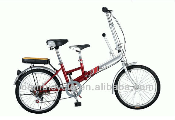 20inch specialized hot sale beautiful steel frame two people folding bicycle