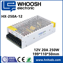 Hot sale CE KC approved 200w 250w DC 12V 24v 10A 20A led switch mode power supply