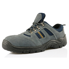 Suede leather sport type construction work safety shoes
