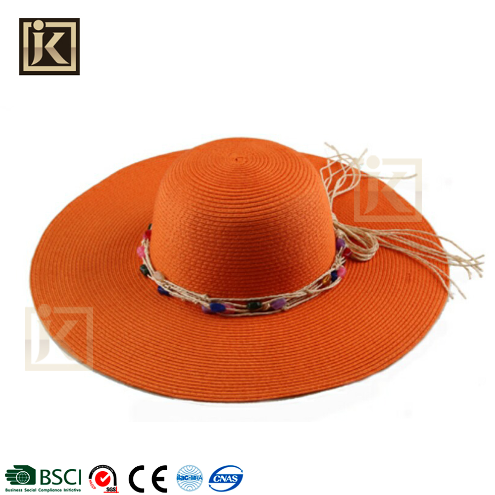 JAKIJAYI ladies designer hat manufacturer wholesale fashion women hat wide brim summer beach floppy custom women hats